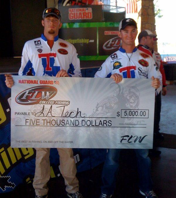 Fishing club members catch winning prize