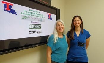 ADVANCE Seminar Series organizers Dr. Teresa Murray (left) and Dr. Jamie Newman.