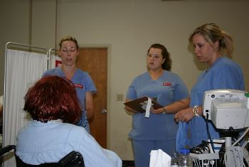 Nursing students apply skills in domestic violence simulation