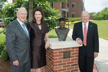 L to R: John D. Caruthers, Jane Caruthers, Louisiana Tech President Dan Reneau