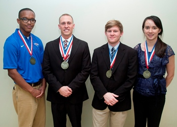 Louisiana Tech's 2013 GCSP graduates - From L to R: Kendall Belcher, Jake Eppehimer, Ryan Land, and Nicole Roberts.