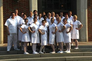 Louisiana Tech's 2013 spring quarter nursing graduates.