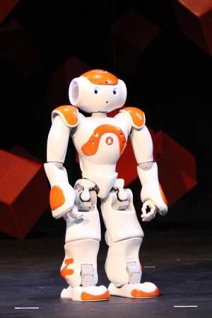 One of Louisiana Tech's new NAO robots