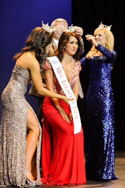 Miss Louisiana Tech 2013 Julianne Tippen (center) and Mallory Cox (right) will be among the 36 competing for the Miss Louisiana crown, June 26-29 in Monroe.