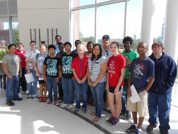 STEM Student Experience students and RET teachers gather at Louisiana Tech University.