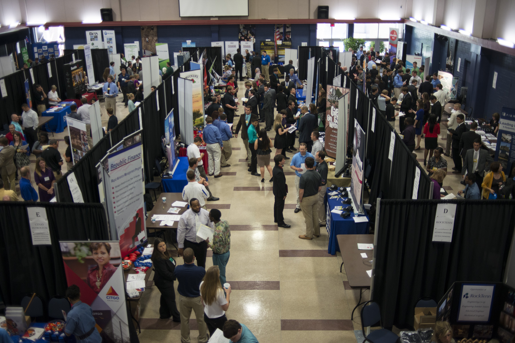 More than 1,000 students attended the fall Career Day.