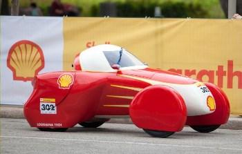 Louisiana Tech's award-winning eco-marathon car, 'Hot Rod'