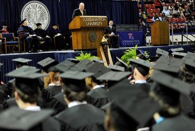 Bill Hogan shares life lessons and advice to Louisiana Tech's fall graduates.
