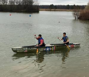 Louisiana Tech students compete in ASCE regional concrete canoe competition.