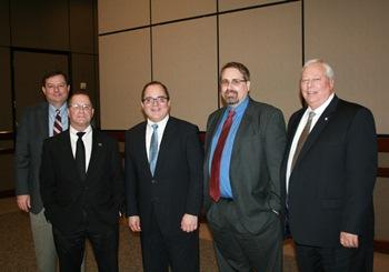 From left: Dr. Ron Berry, Dr. Robert Eisenstadt, John Stoltzfus, Dr. John Francis, and Dr. James Lumpkin.