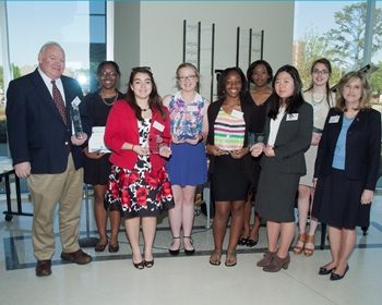 Dr. Jenna Carpenter (far right) stands with the winners of the 2014 Louisiana Aspirations in Computing Awards.