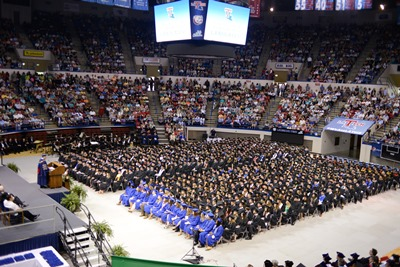 Biggest graduating class, bright futures celebrated at spring commencement