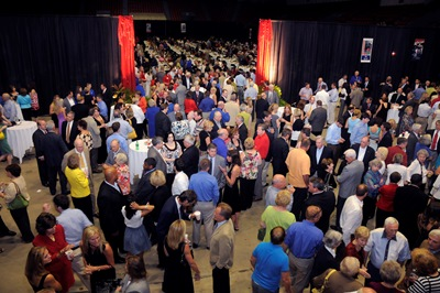 Louisiana Tech friends, fans and alums gather for the annual Happening at the Monroe Civic Center.