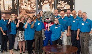 CSC staff show their Bulldog Spirit during three-day curriculum development workshop at Louisiana Tech.