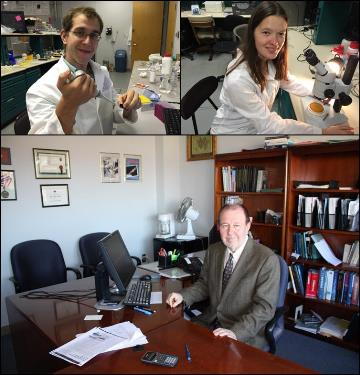 Joshua Tully (top left), Renata Minullina (top right), and Dr. Yuri Lvov (bottom)