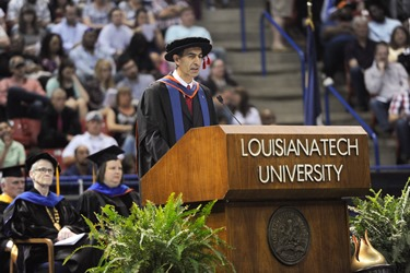 Dr. Kamal Jabbour offered words of encouragement and inspiration Saturday to the 836 spring graduates at Louisiana Tech.
