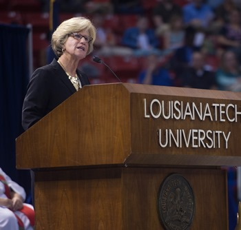 Stegall honors Louisiana Tech summer grads, encourages them to live the 'Tenets of Tech'