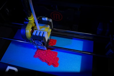 3D printer at the Louisiana Tech Thingery whirs and hums in the rapid prototyping lab.