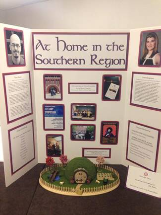 The display board for the Southern Region, prepared by Louisiana Tech student Amber Jurgensen, showed chapter activities and projects.