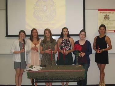 Spanish Honor Society Initiates:  Hannah Gissendanner, Sarah Head,  Sarah Funderburk, Susannah Leblanc, Rebekah Long, Laura Rodriguez.