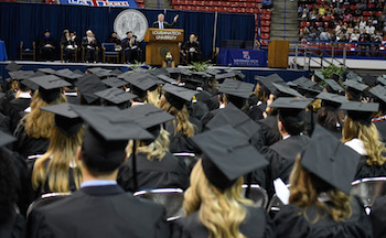Fall graduates encouraged to 'enjoy the journey and attack life'