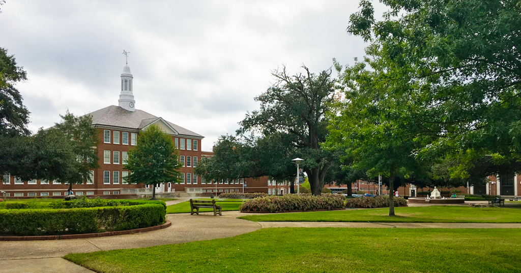 Keeny Hall and the Quad at Louisiana Tech University