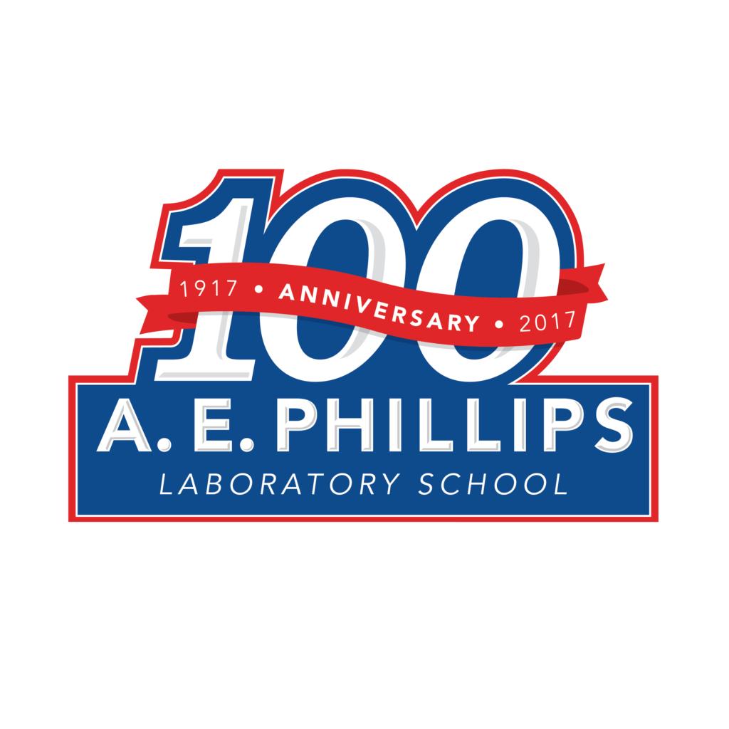 A. E. Phillips Centennial logo