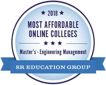 Most Affordable Online Colleges - Masters - Engineering Management badge