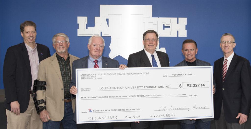 Louisiana State Licensing Board for Contractors check donation