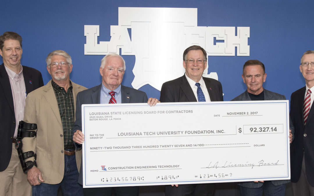 State's general contractors donate nearly $200,000 to support Louisiana Tech