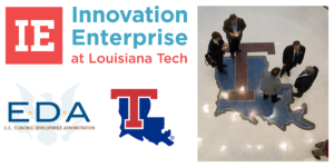 U.S. Economic Development and Louisiana Tech logo collage