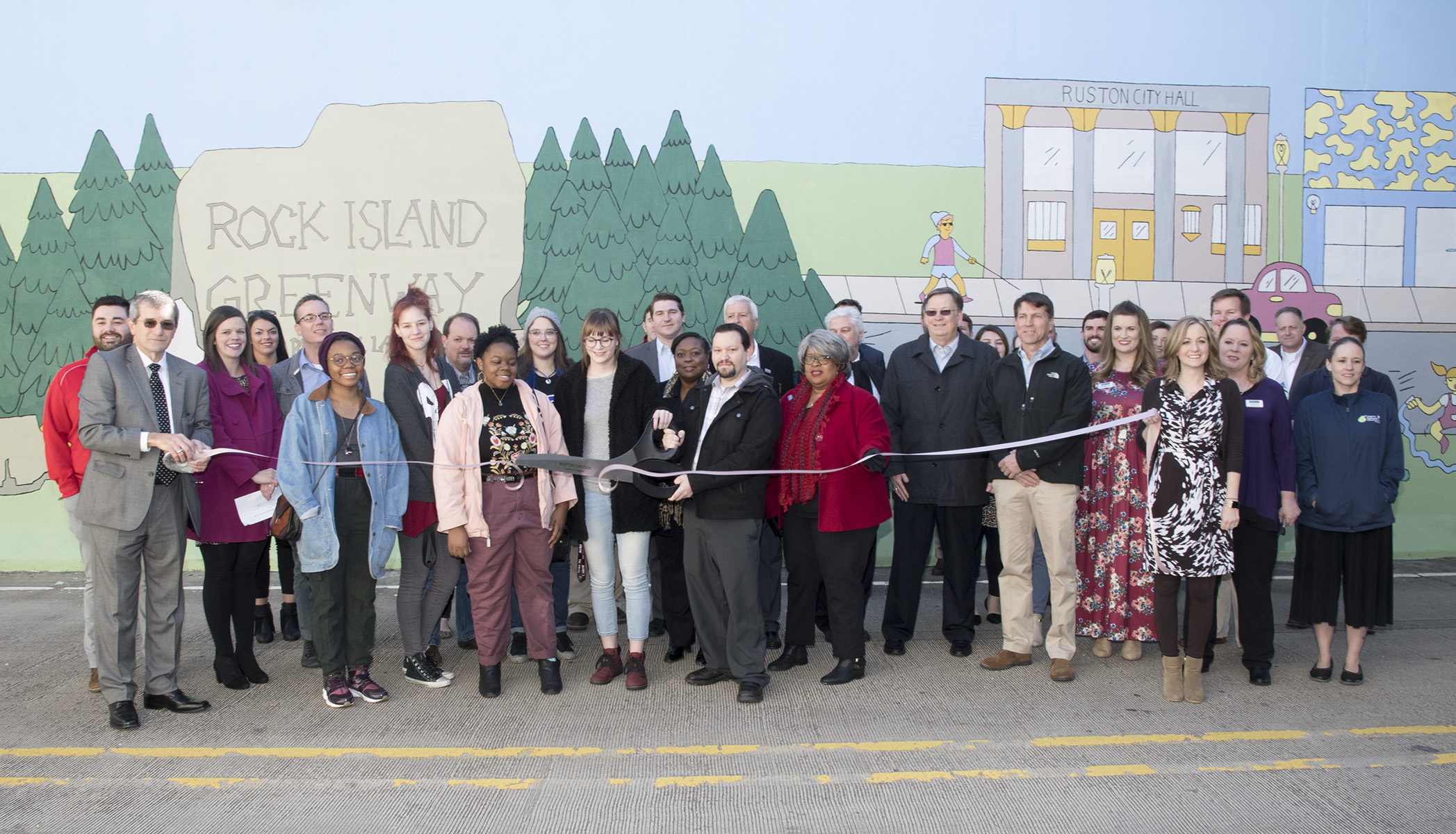 Rock Island Greenway Mural Ribbon Cutting