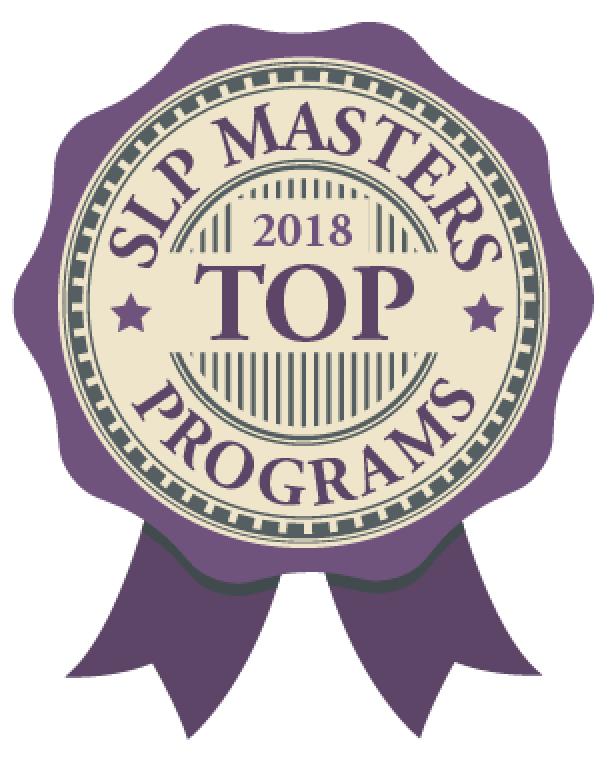 2018 Top Speech-Language Pathology Masters Badge