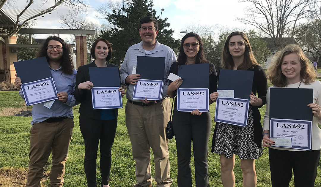 Six Louisiana Tech biological sciences students earn awards at annual meeting