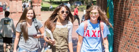 Students walking in Centennial Plaza