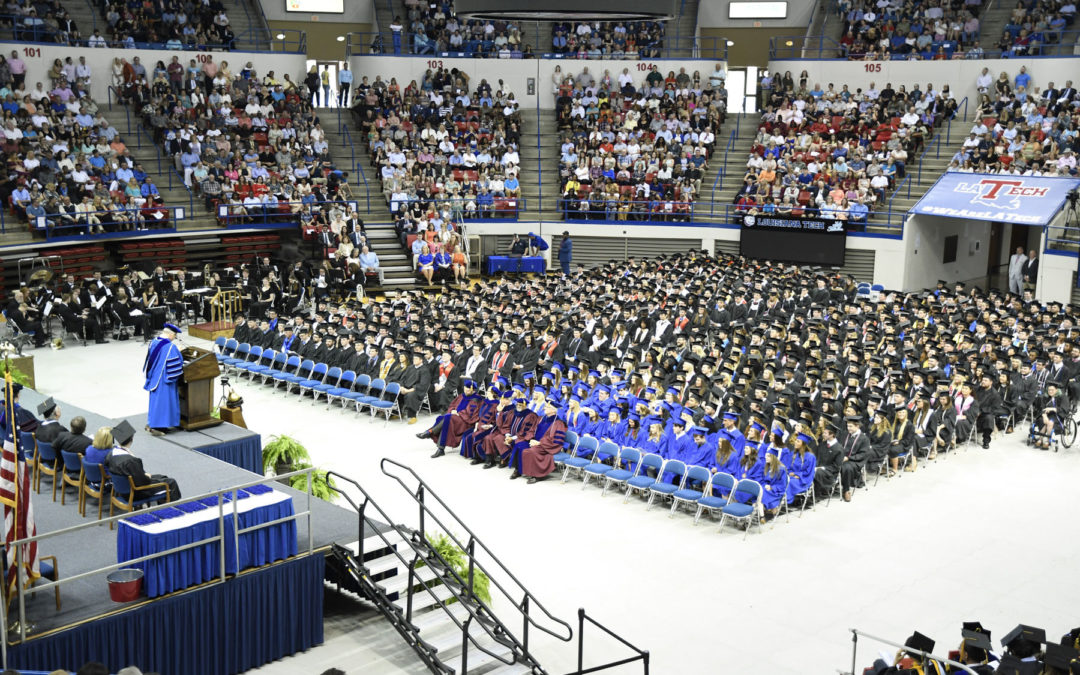 Tech graduates largest class in history during two Saturday ceremonies