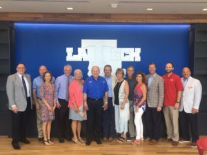 Family and friends gather to celebrate the Leo and Myrna Sanford Endowed Athletics Scholarship.