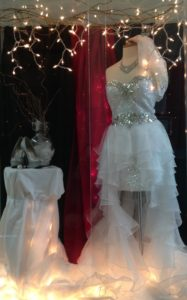 Wedding dress project from fashion merchandising students.