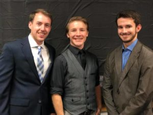 PEK executive officers are (from left), Vice President  Cameron Curtis, President  Philip Matherne, and Secretary/Treasurer Lane Dale.