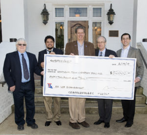 Pictured are (from left) Dr. Mickey Cox, Dr. Prashanna Bhattarai, Dr. Hisham Hegab, Malcolm Smoak, Devin Ferguson.