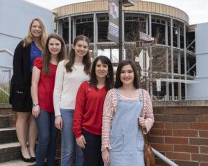Louisiana Tech RockOn team is (from left) Dr. Krystal Corbett, Allison Kumler, Abigail Phillips, Dr. Mary Caldorera-Moore, and Tess Hamilton.