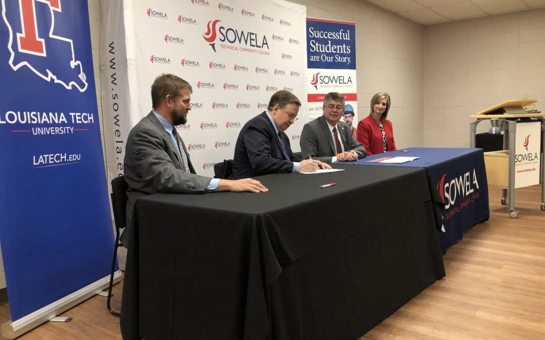 Louisiana Tech, SOWELA agreement designed to create student pathways in forestry products industry