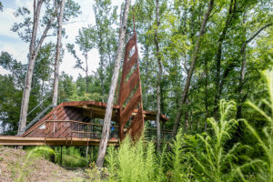 The most recent collaboration between Louisiana Tech and MedCamps includes a tree house and zip line.