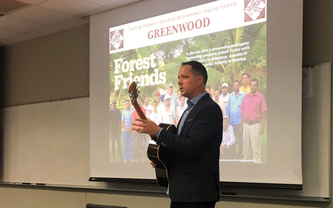 Taylor Guitars Exec to Headline College of Business Sustainability Lecture
