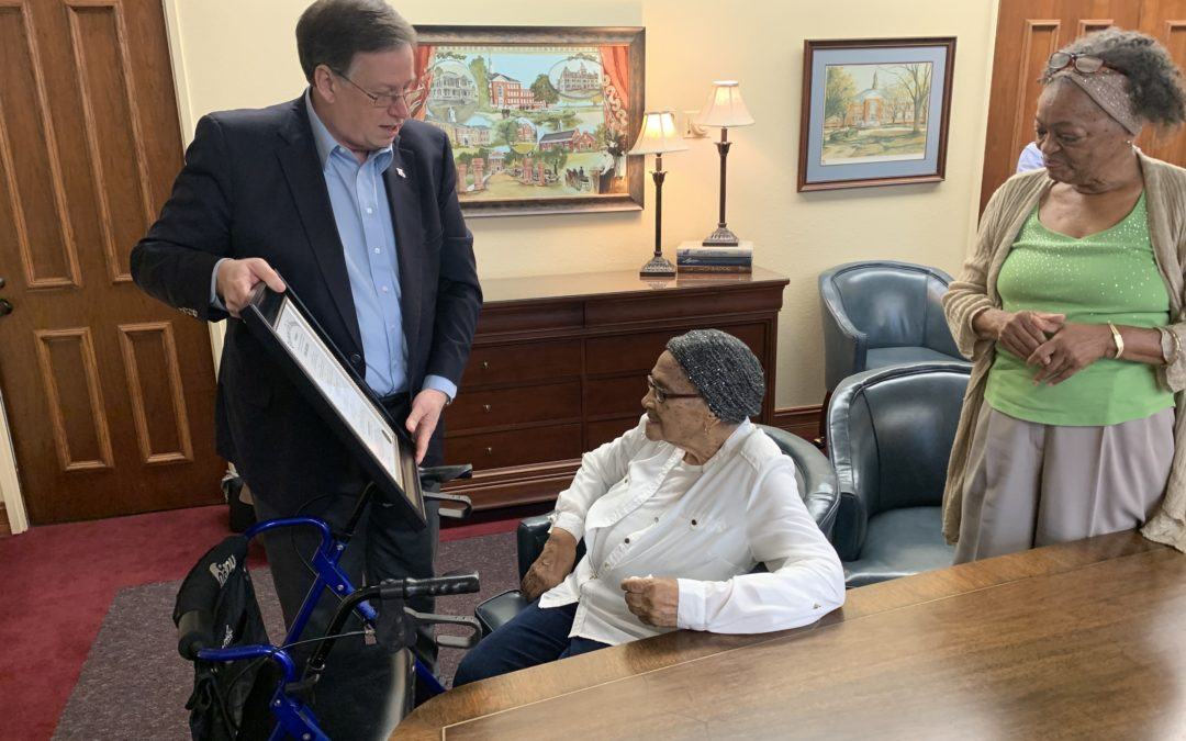 Tech's oldest student honored for her example and inspiration