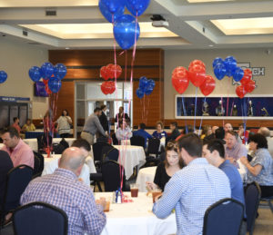 University Advancement honored faculty and staff with a luncheon Monday.