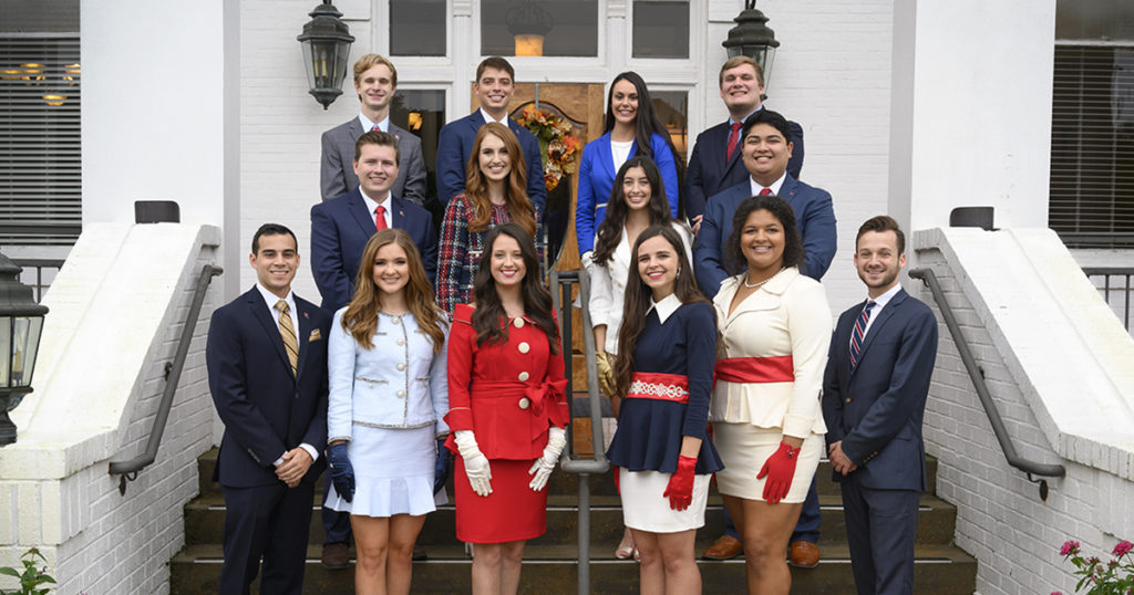 2019 Homecoming Court group photo