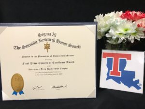 Sigma Xi award certificate