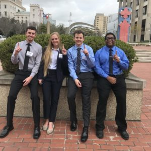 Students who won at the Louisiana Transportation Conference