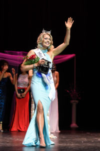 Courtney Hammons waves to the crowd after being crowned Miss Louisiana Tech 2019.